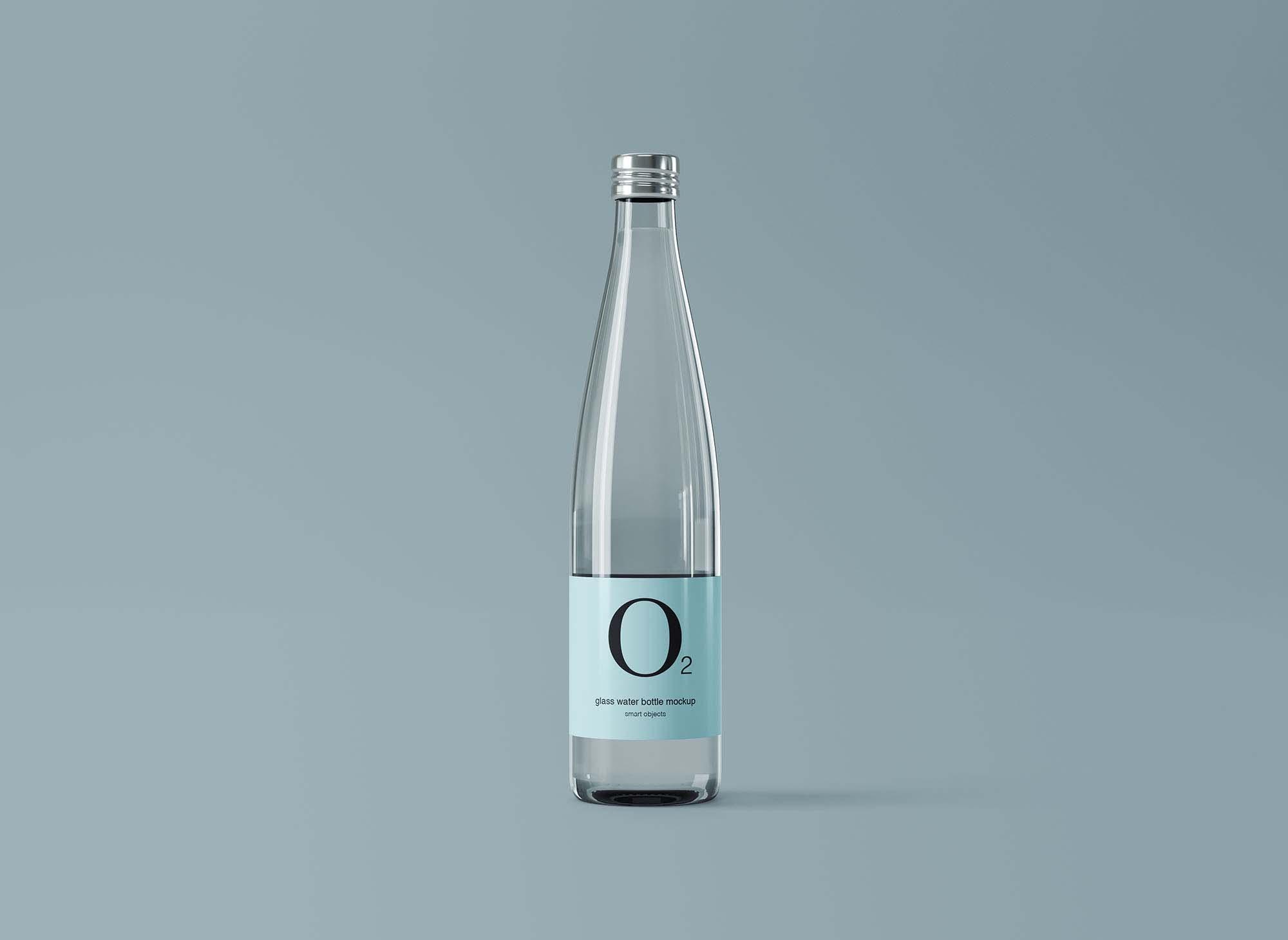 Glass Water Bottle Mockup