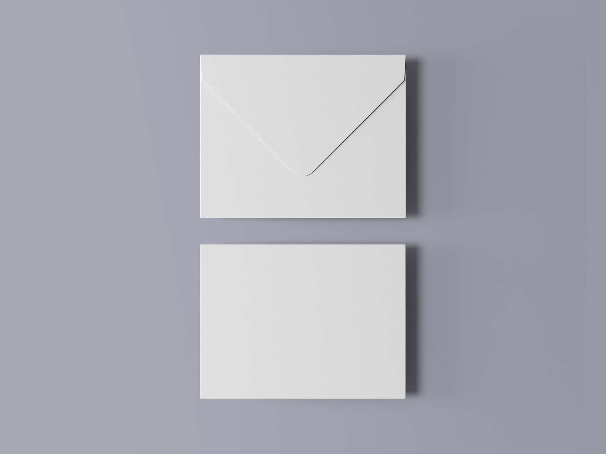 Greeting Card with Envelope Mockup 2