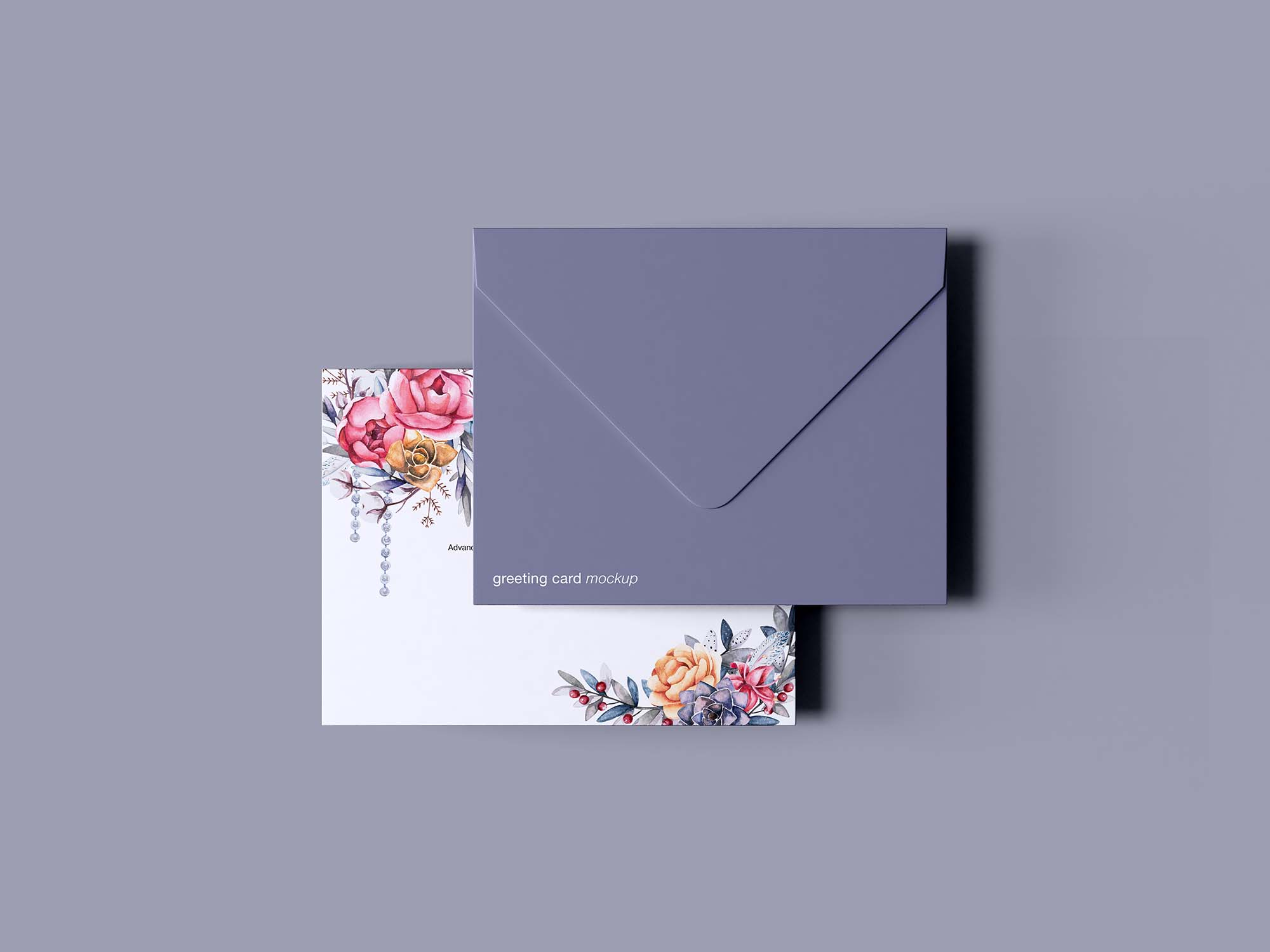 Greeting Card with Envelope Mockup 3