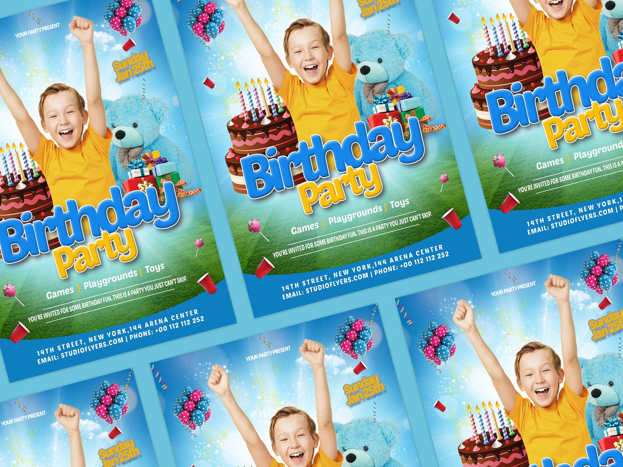 Happy Birthday Kids Flyer Template 2