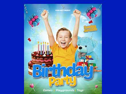 Happy Birthday Kids Flyer Template