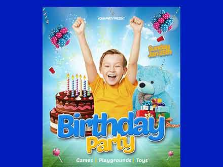 Happy Birthday Kids Flyer Template