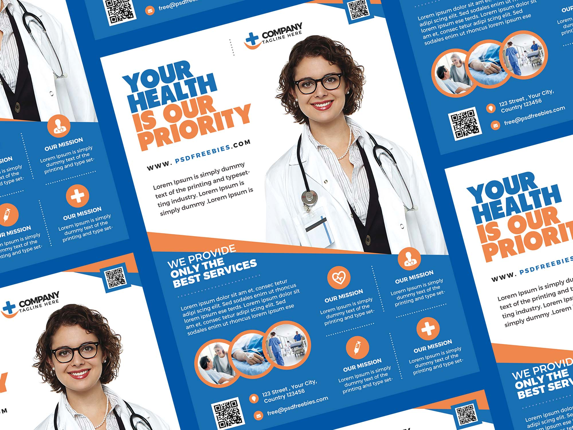 Health Care Flyer Template 2