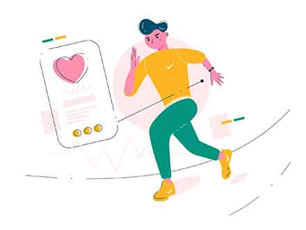 Heart Rate Monitor Watch Illustration