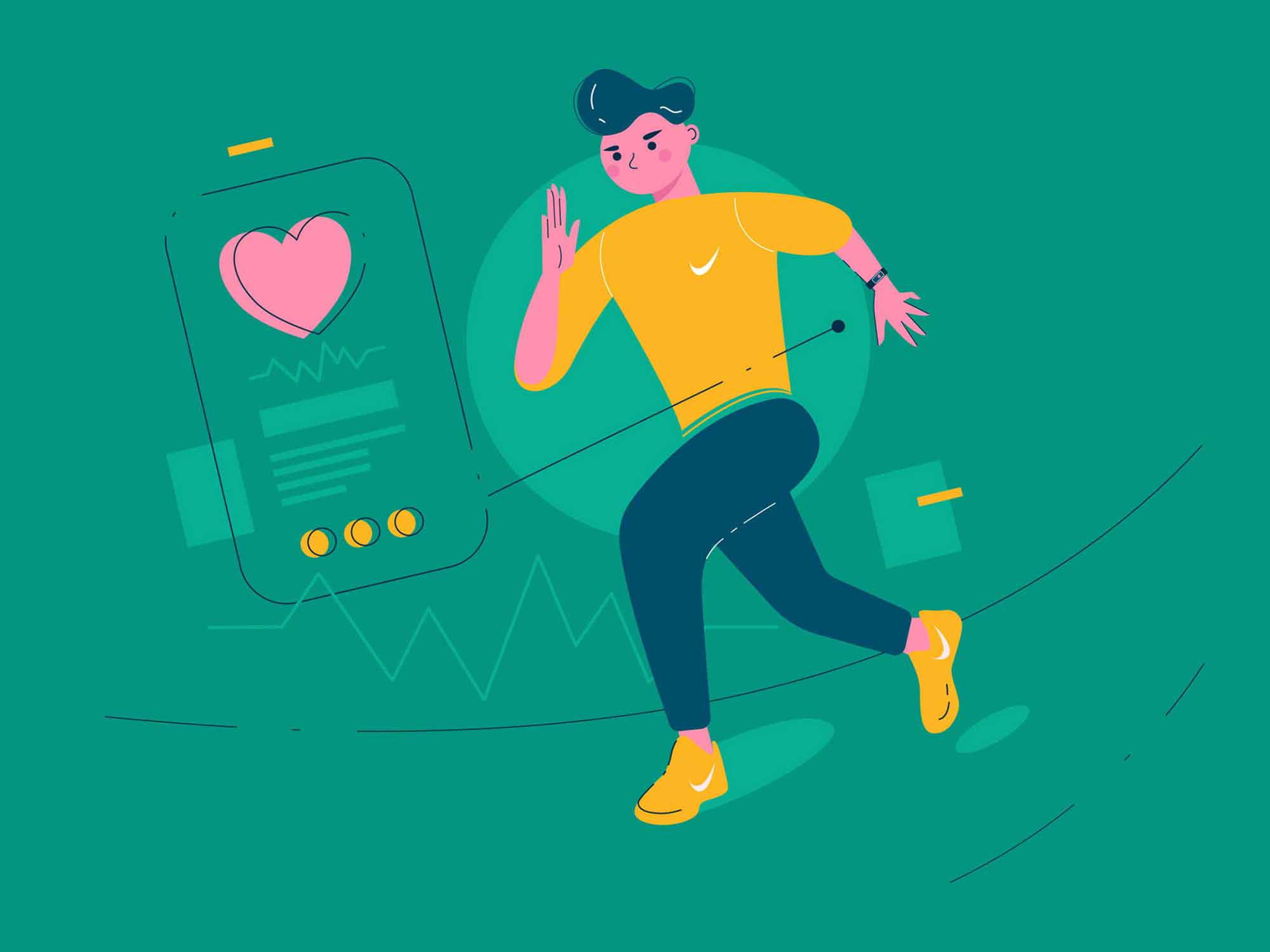 Heart Rate Monitor Watch Illustration 2