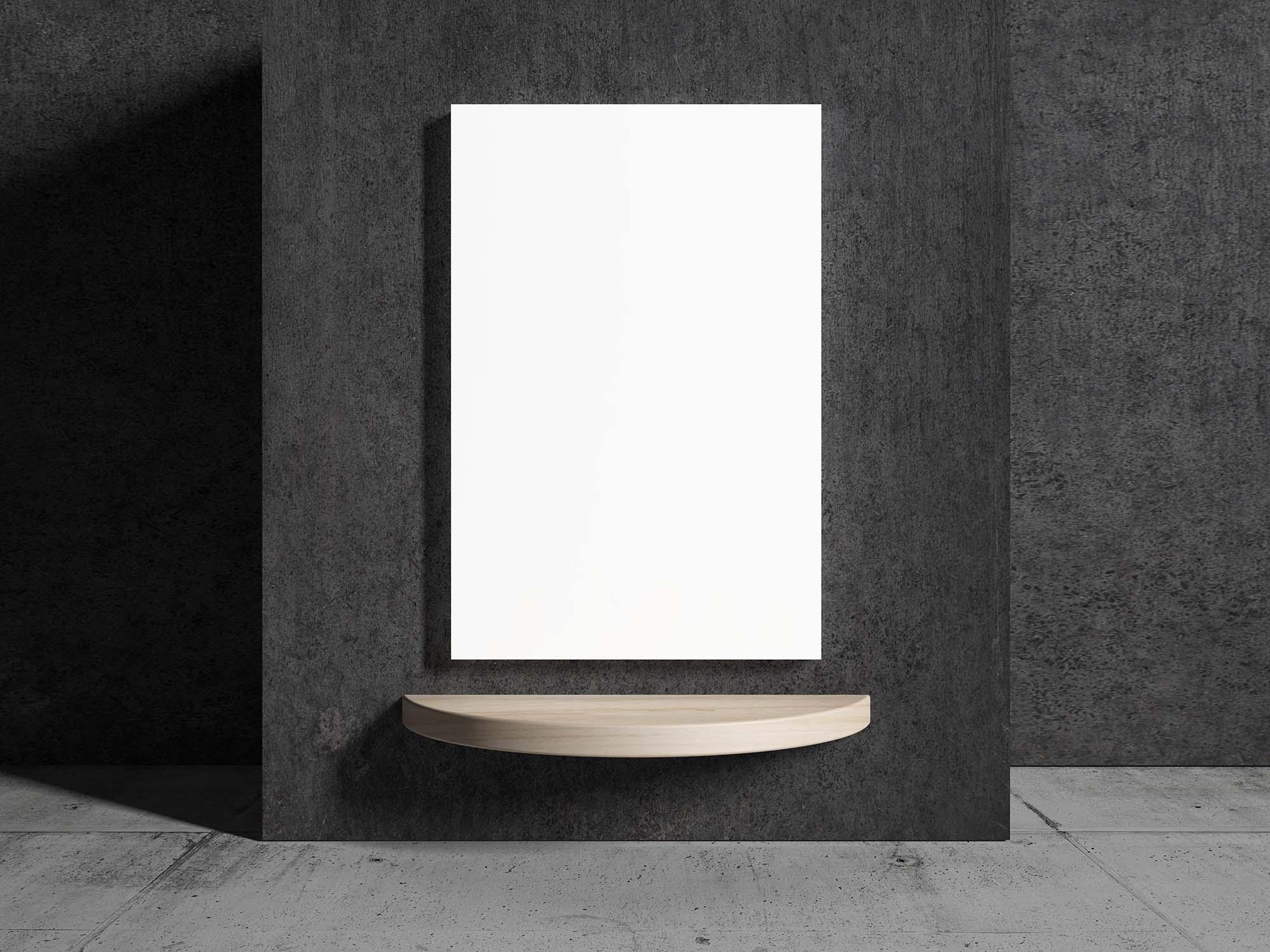 Indoor Concrete Poster Mockup 2