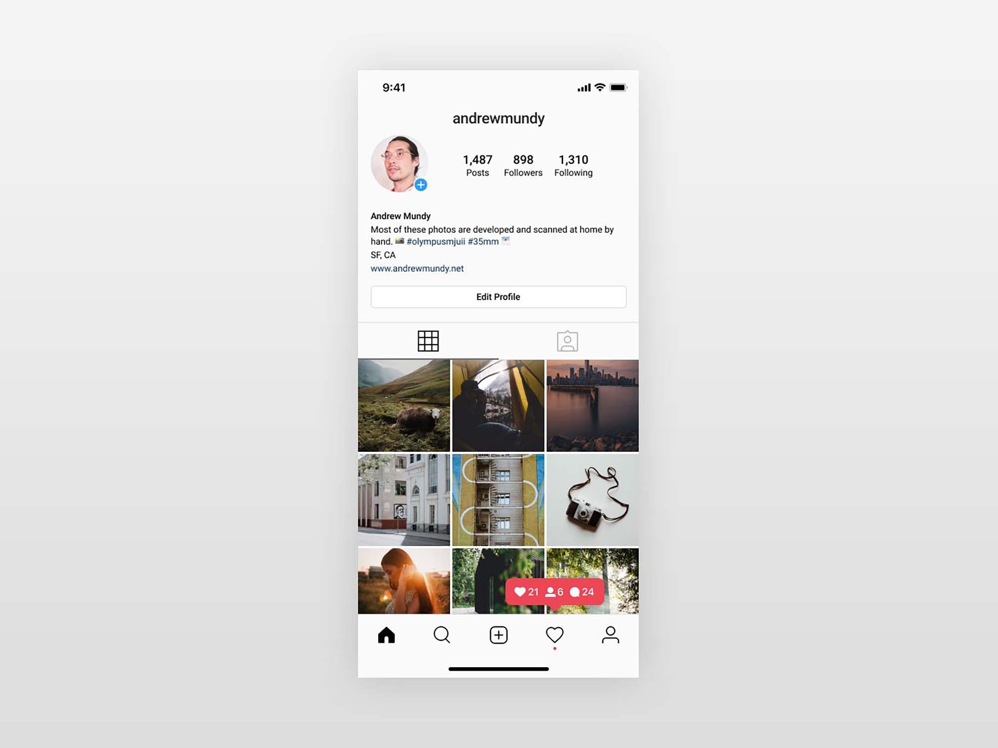 Instagram UI Profile