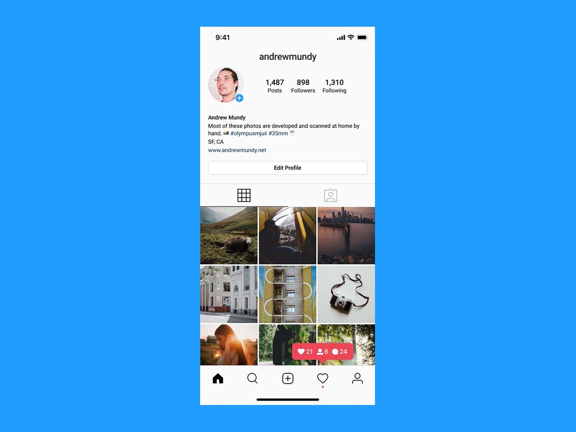 Instagram UI Profile 2