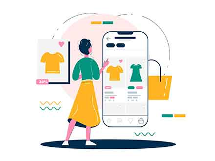 Internet Shopping Illustration