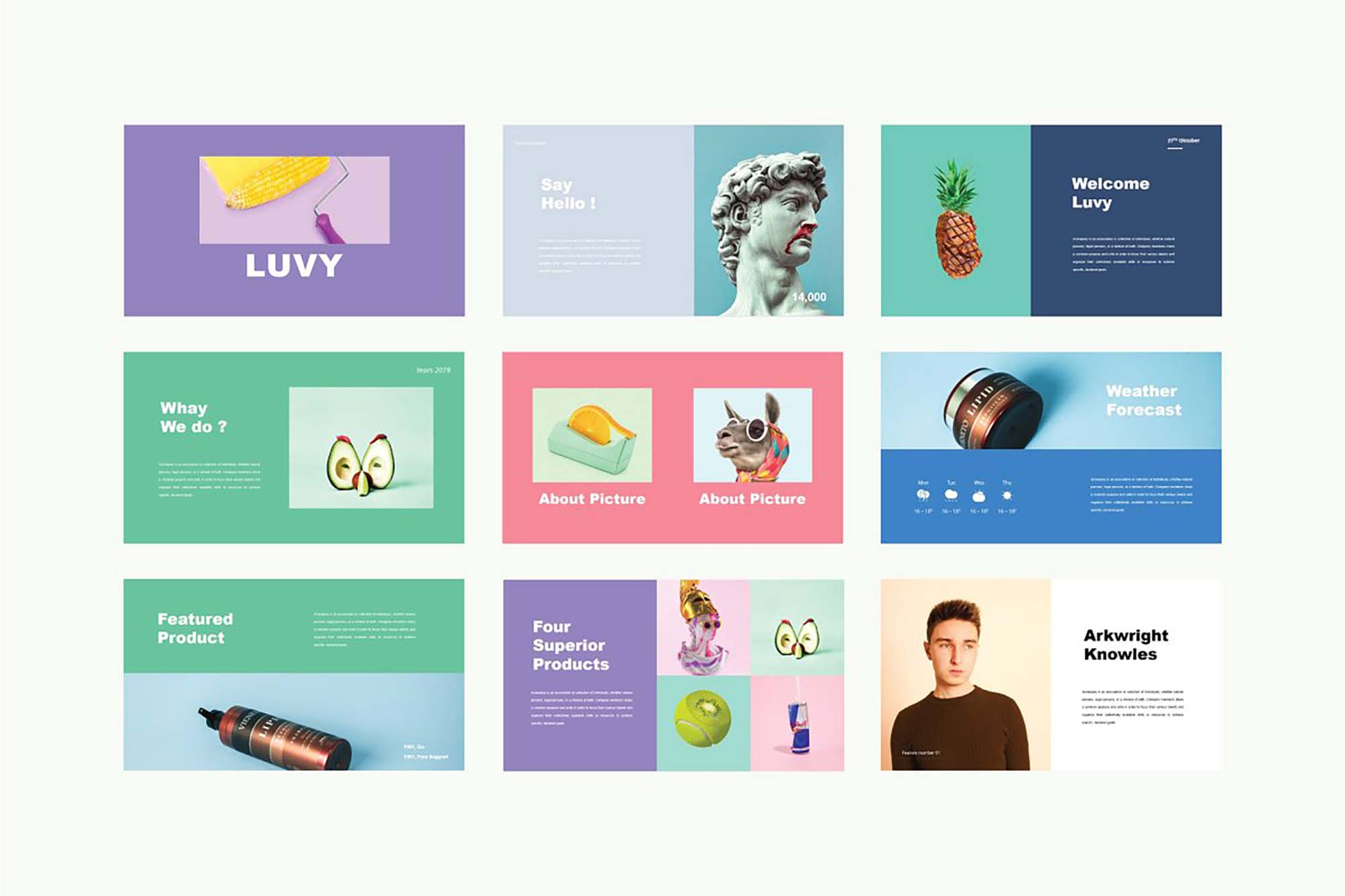 Luvy PowerPoint Template 4
