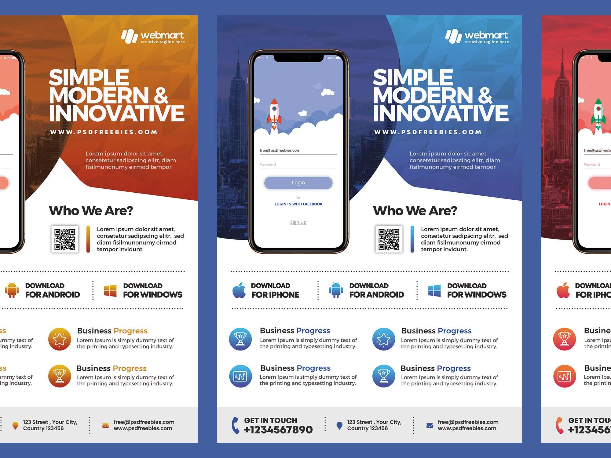 Mobile App Promotion Flyer Template 2