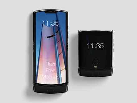 Motorola Razr Phone Mockup