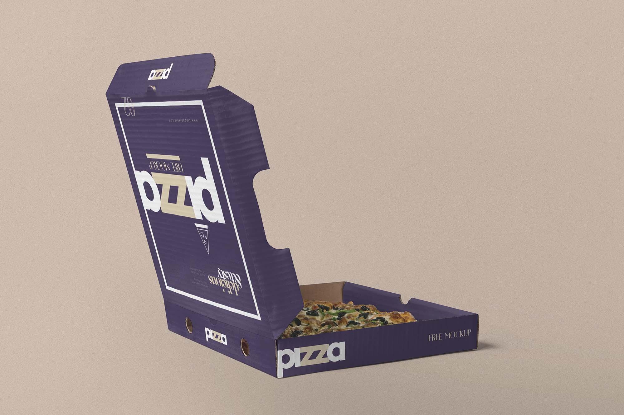 Opened Pizza Box Mockup