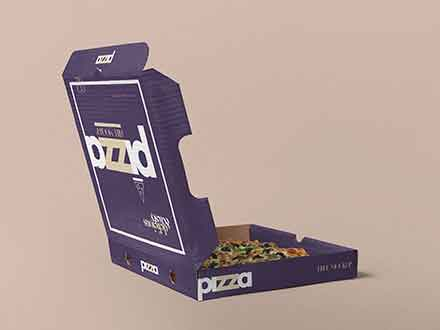 Opened Pizza Box Mockup