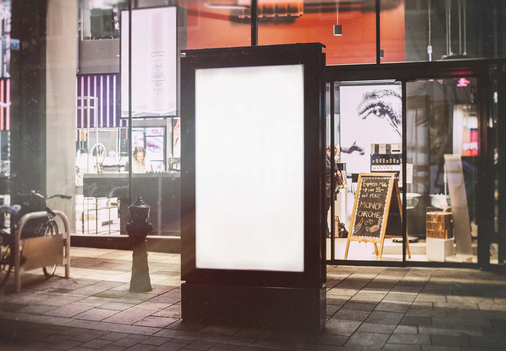 Outdoor City Light Ad Mockup 2