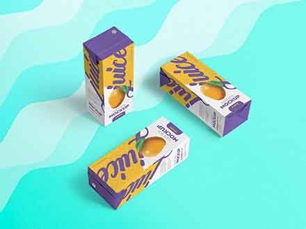 Paper Juice Packaging Mockup