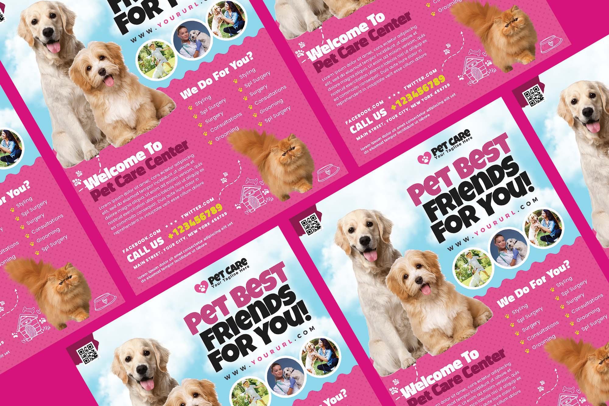 Pet Care Flyer Template 2