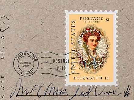 Portrait Postage Stamp Mockup