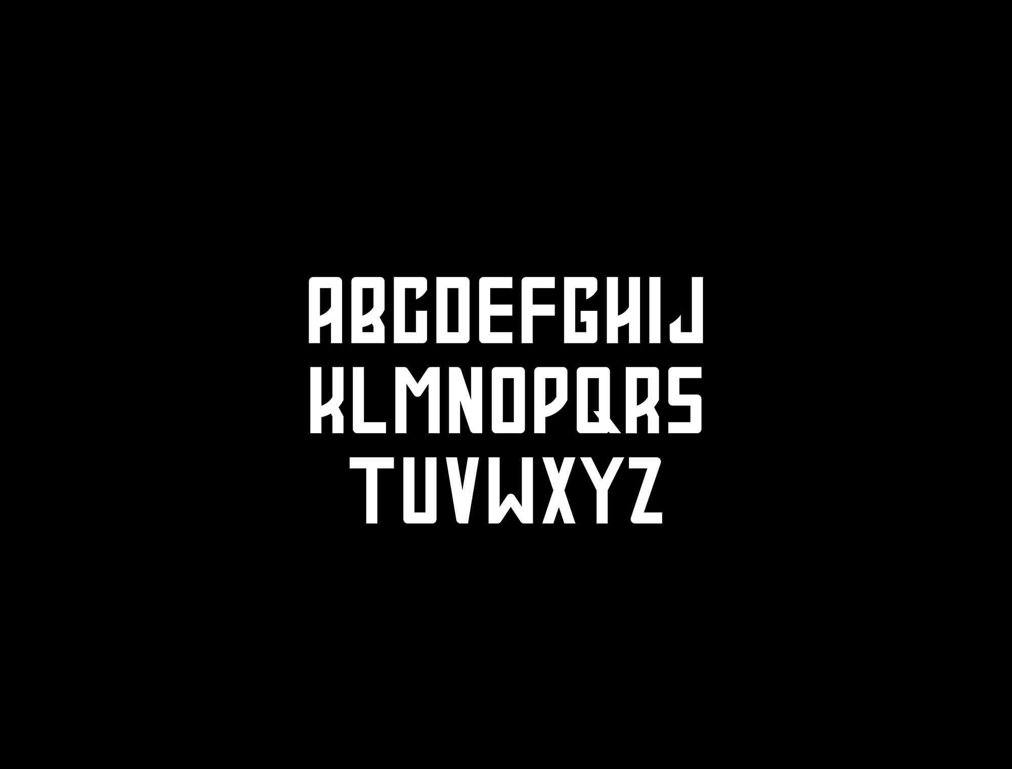 Pulsar Typeface Letters