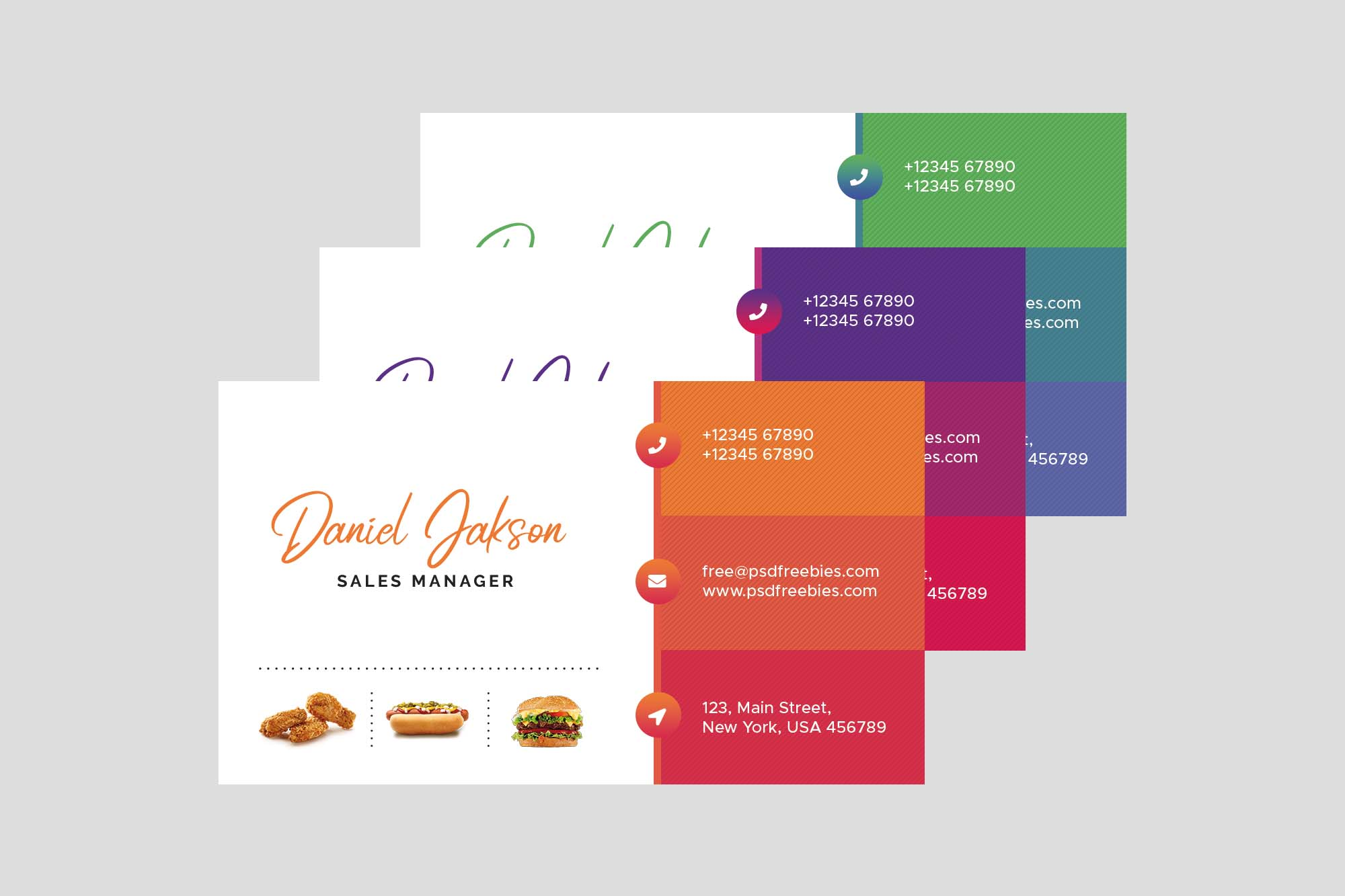 Restaurant Business Card Template 2