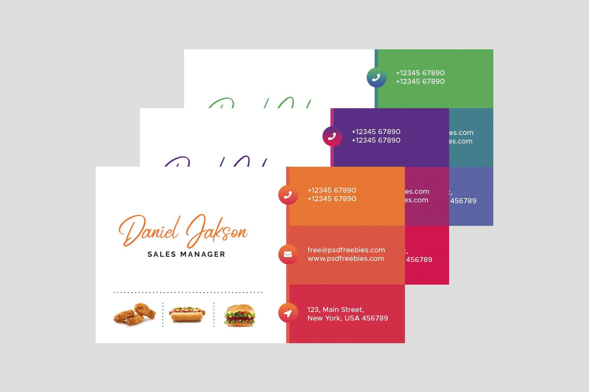 Restaurant Business Card Template 2
