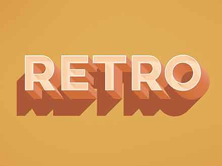 Retro Text Effect Mockup
