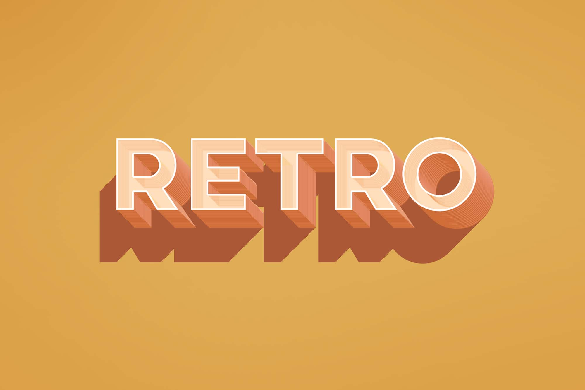 Retro Text Effect Mockup