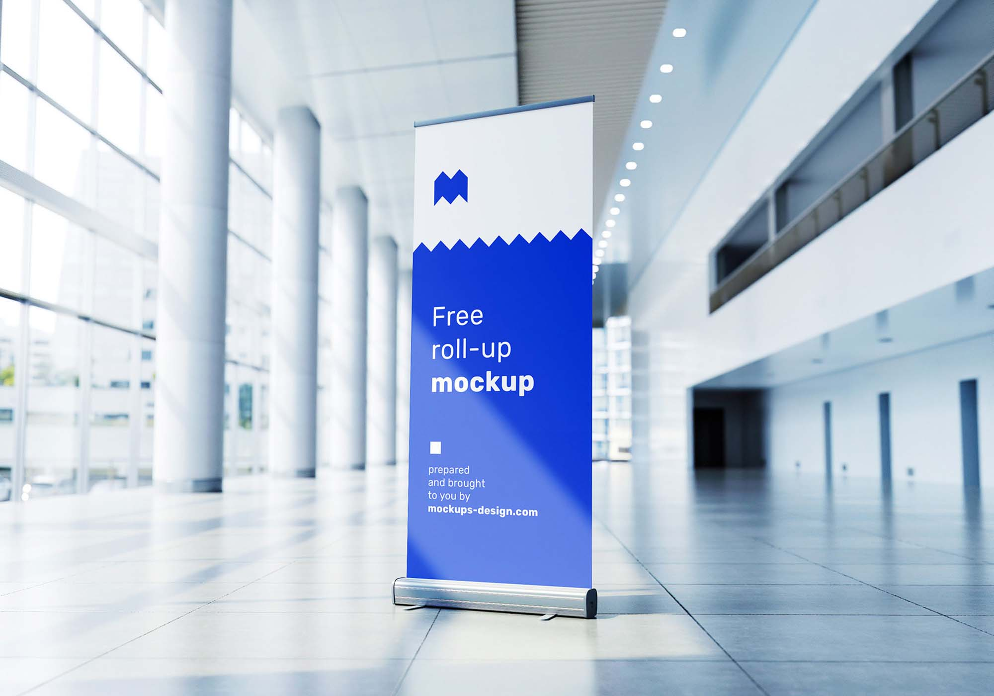 Rollup in Exhibition Mockup 3