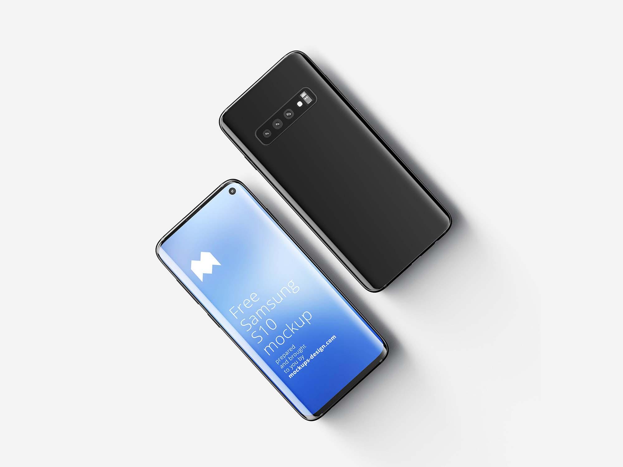 Samsung Galaxy S10 mockup 2