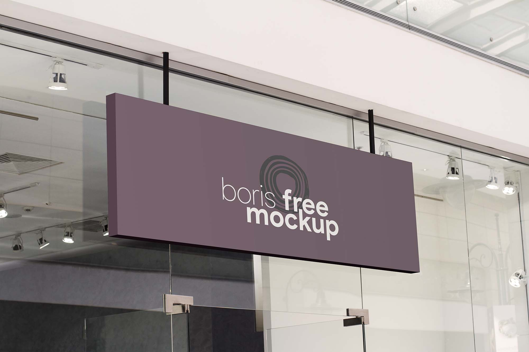 Free Shop Signage Mockup Psd