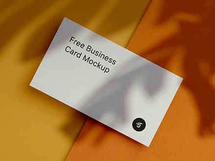 Single Business Card Mockup