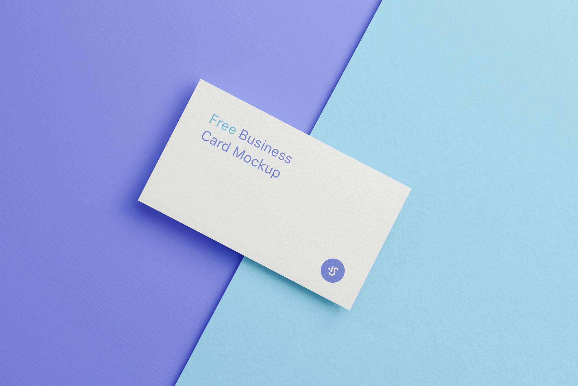 Single Business Card Mockup 3