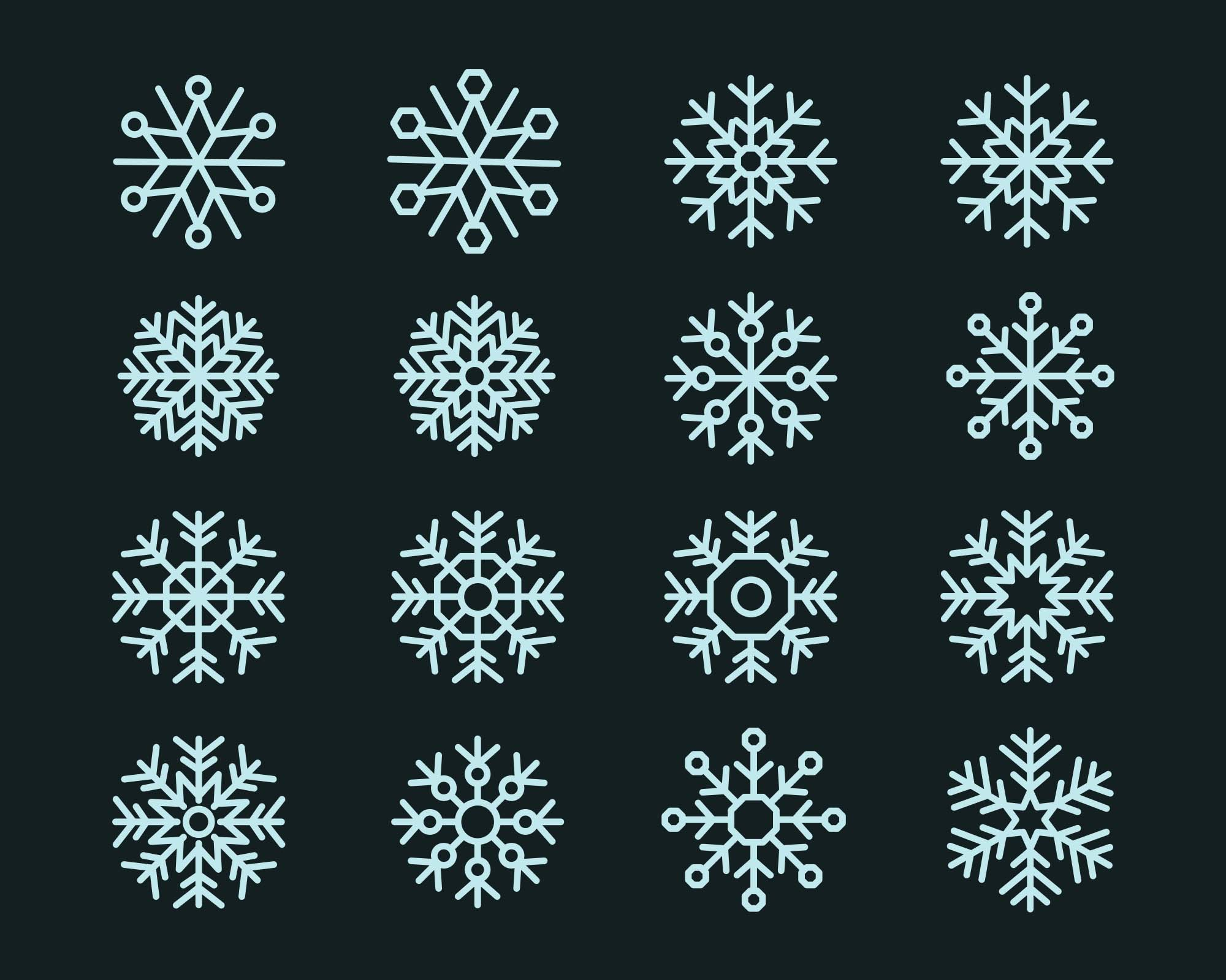 Snowflake Vector Icons 2