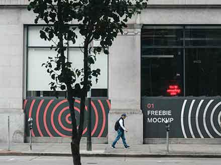 Store Front Wall Mockup