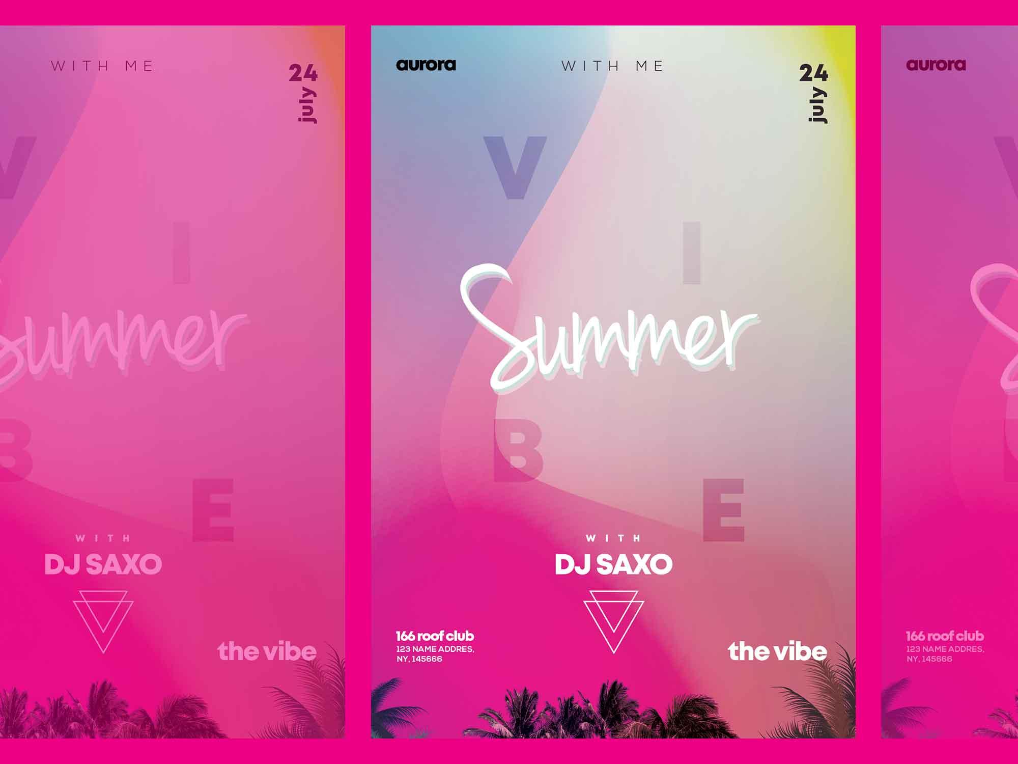 Summer Vivid Flyer Template 2