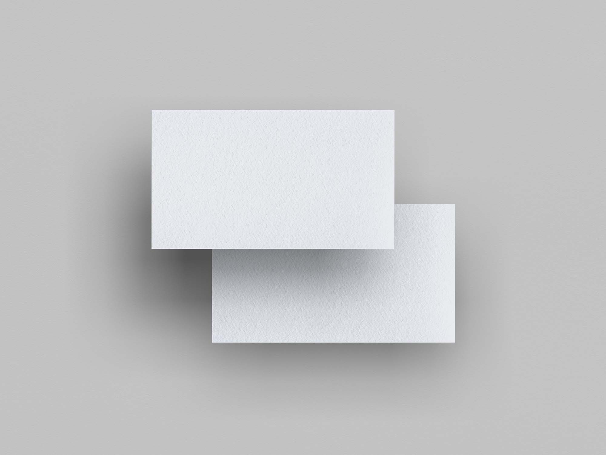 Top View Floating Business Card Mockup 2