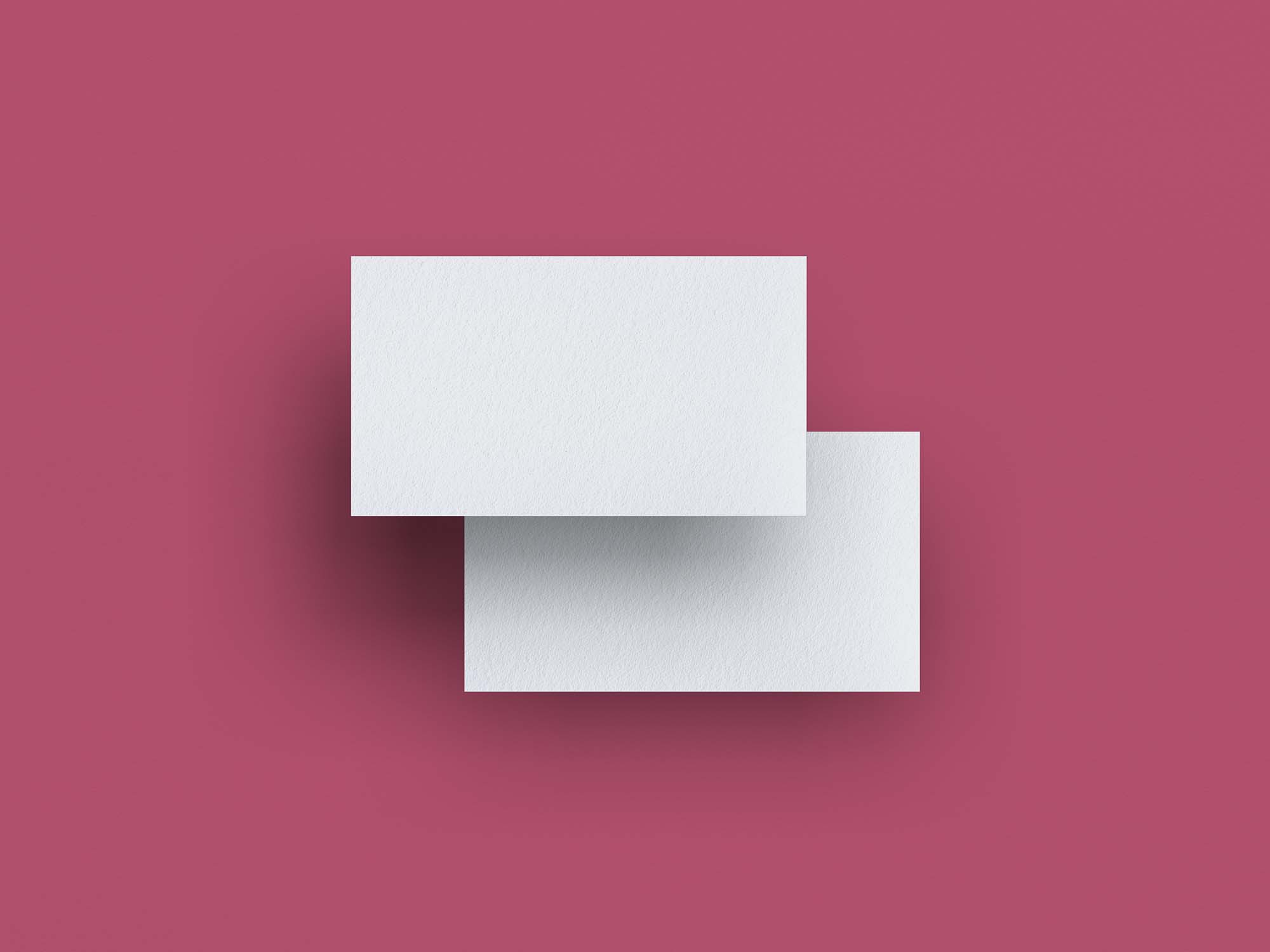 Top View Floating Business Card Mockup