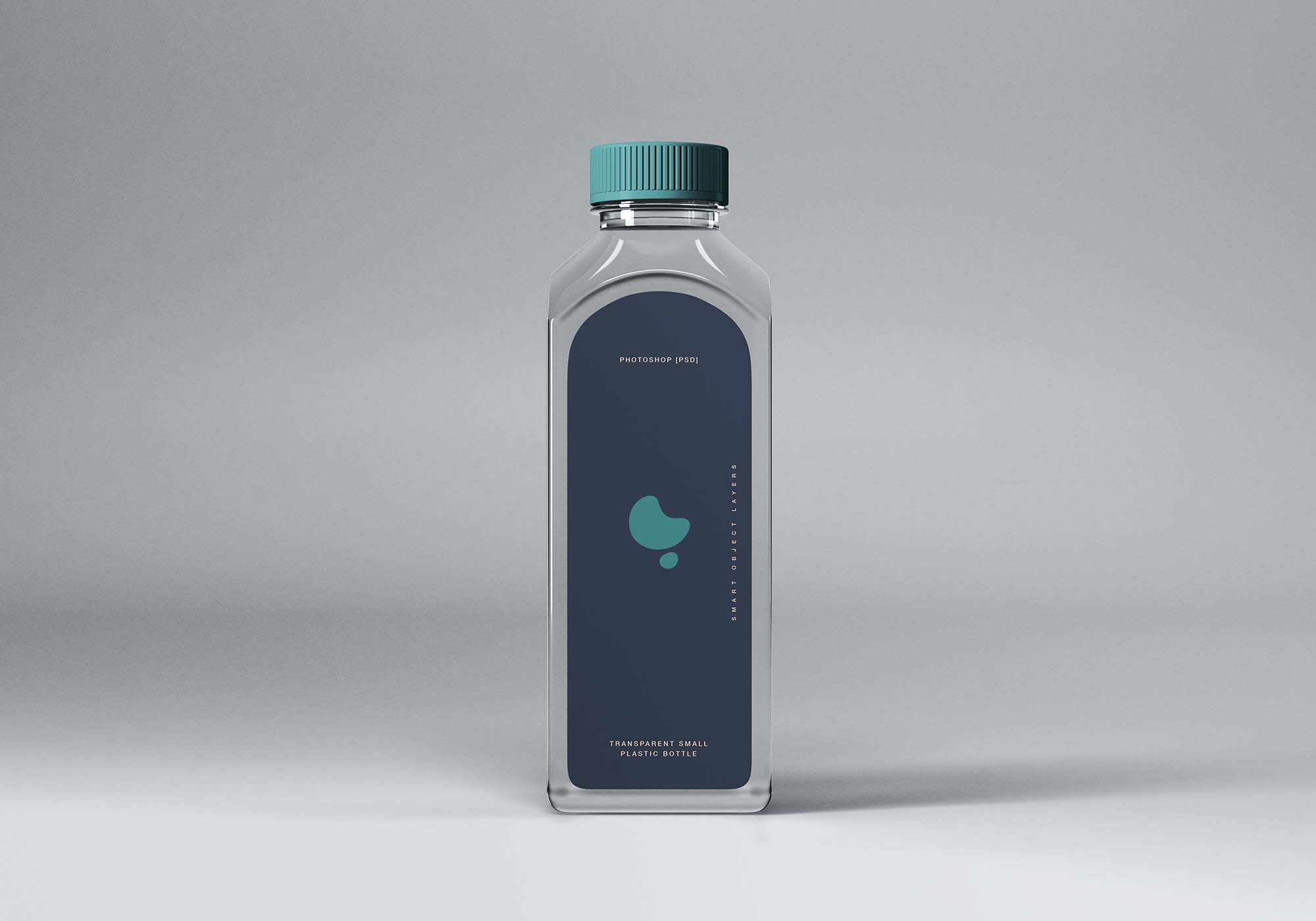Transparent Small Plastic Bottle Mockup