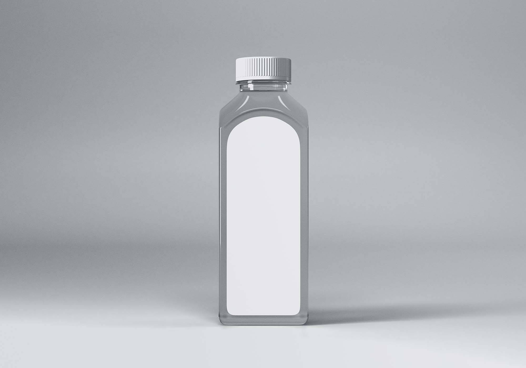 Transparent Small Plastic Bottle Mockup 2