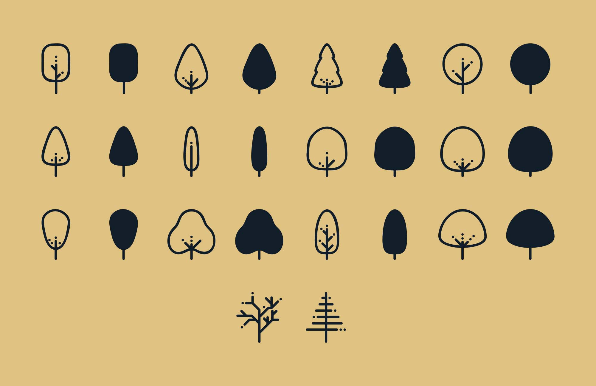 Tree Vector Icons 2