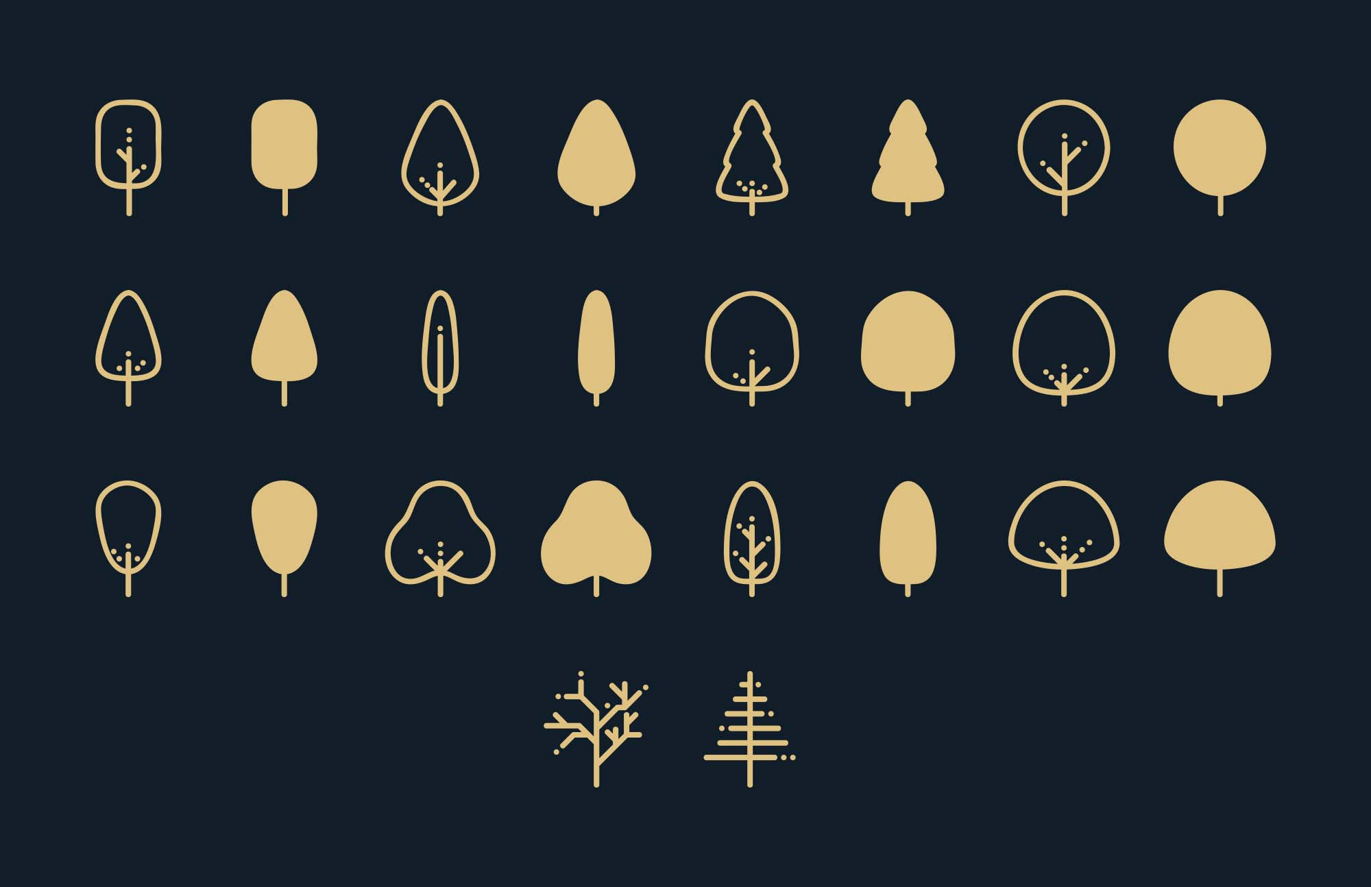 Tree Vector Icons 1