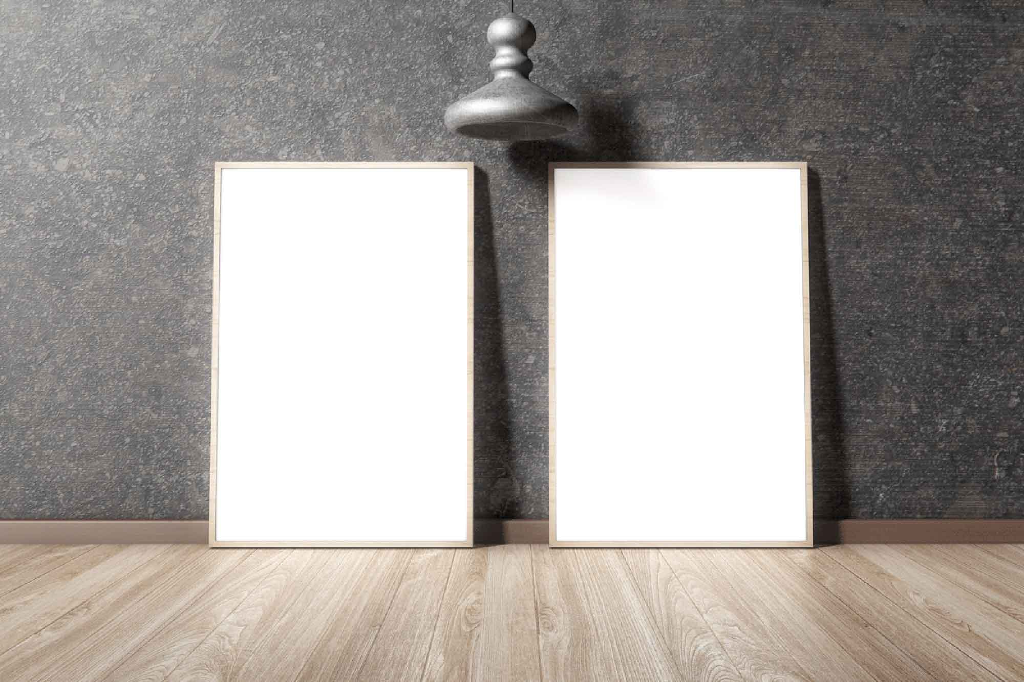 Twin Modern Interior Posters Mockup 2