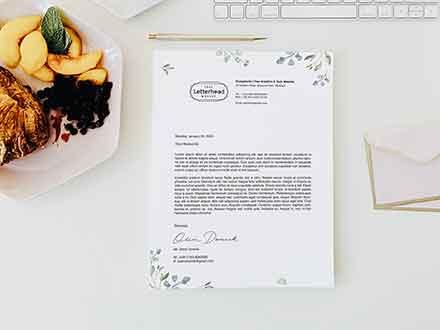 U.S Letter Letterhead Mockup