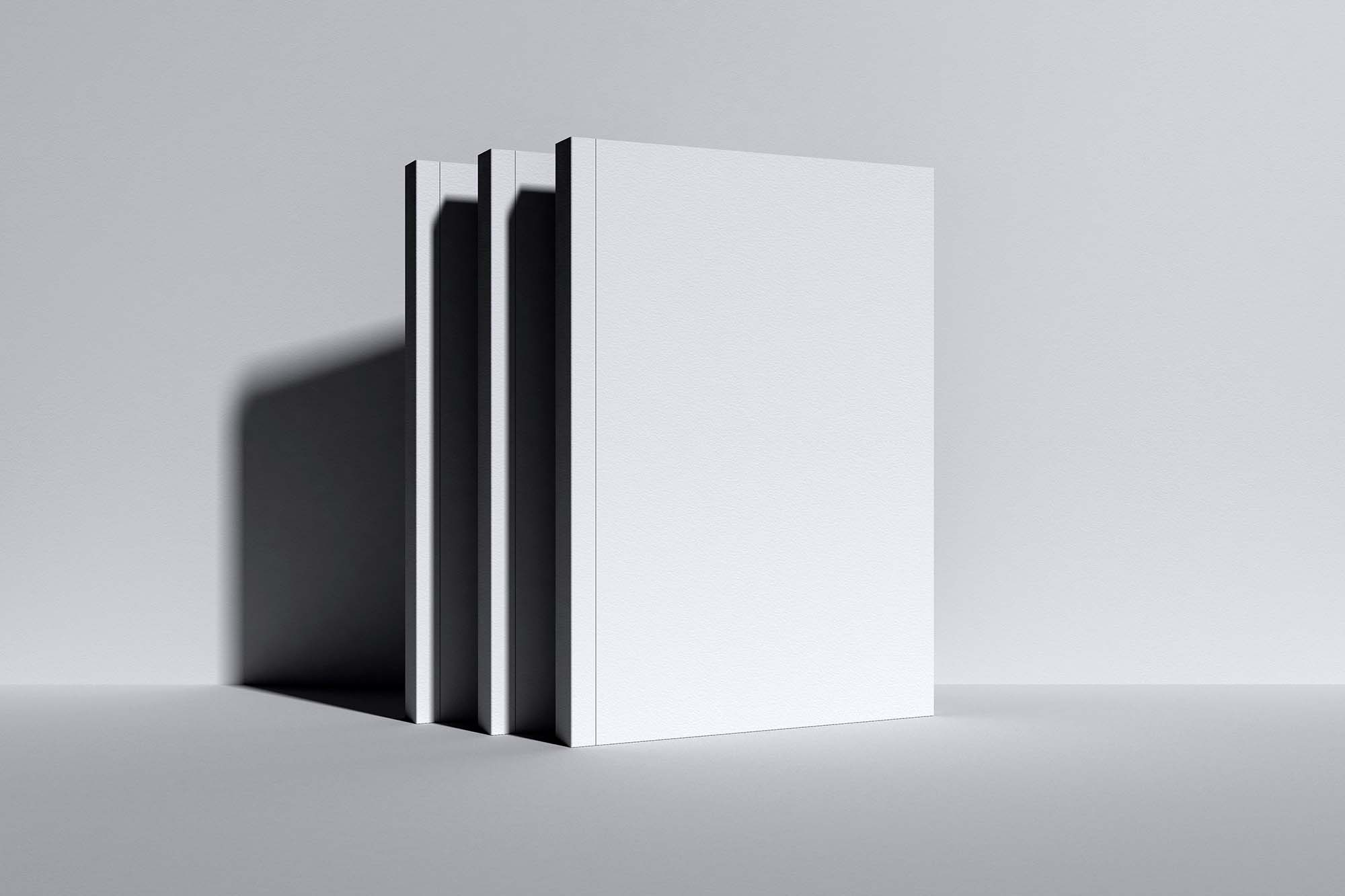Upright Standing Books Mockup 2