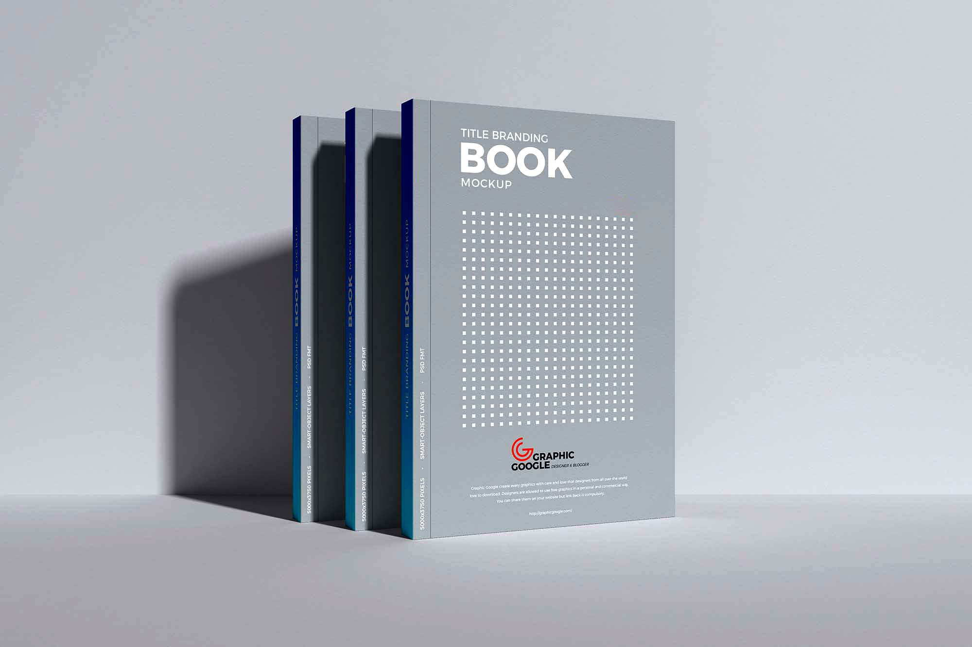 Upright Standing Books Mockup