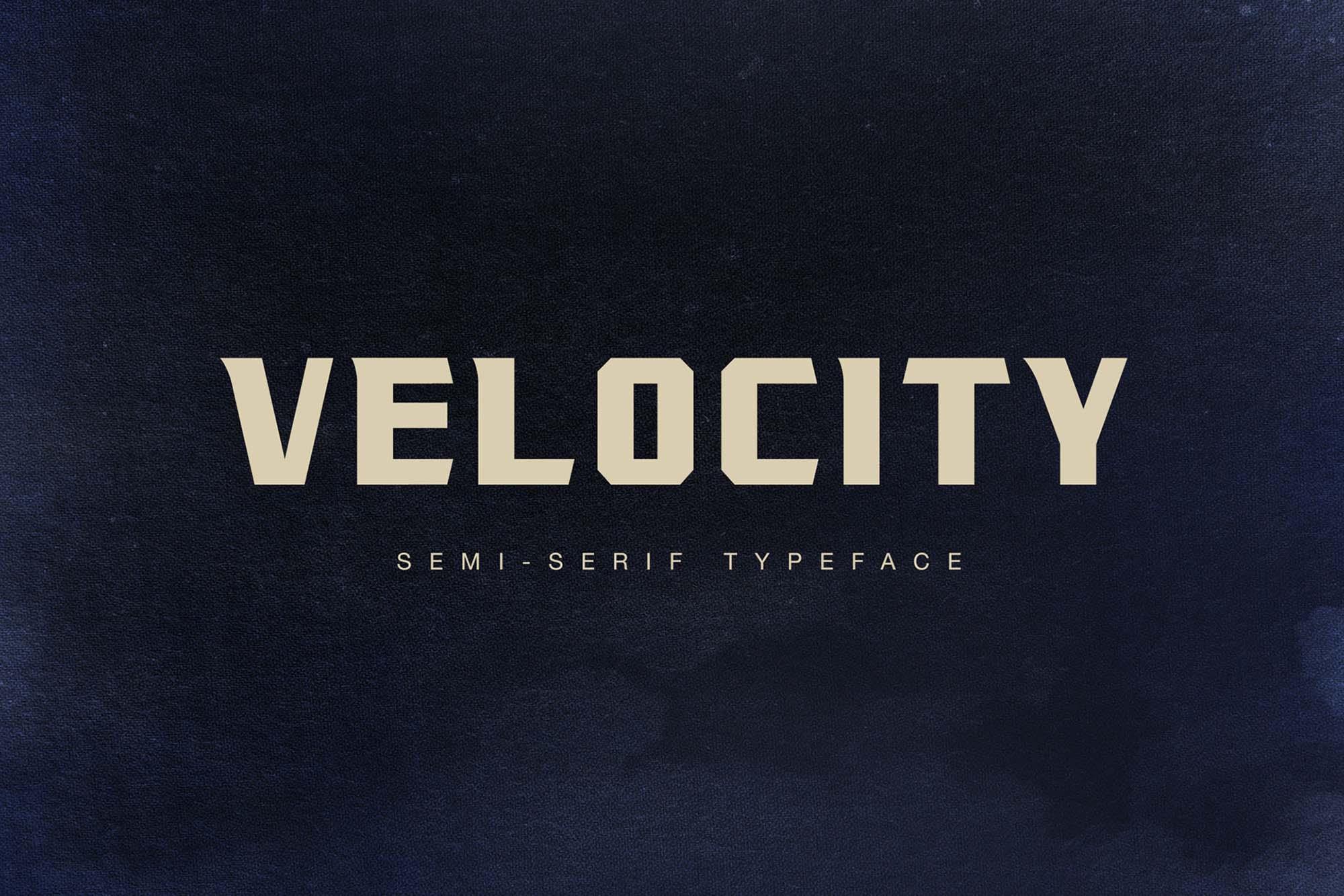 Velocity Typeface
