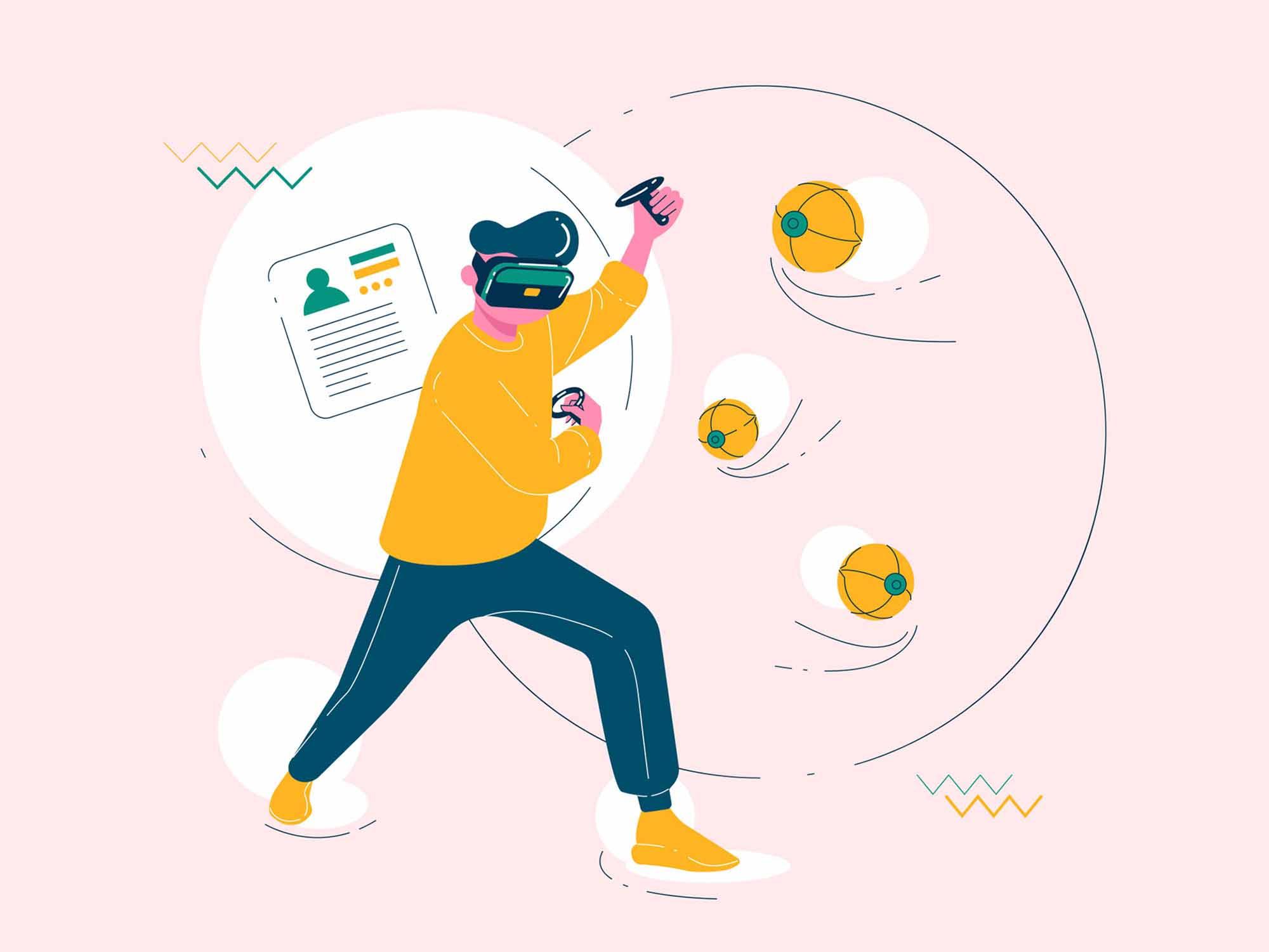 Virtual Reality Games Illustration