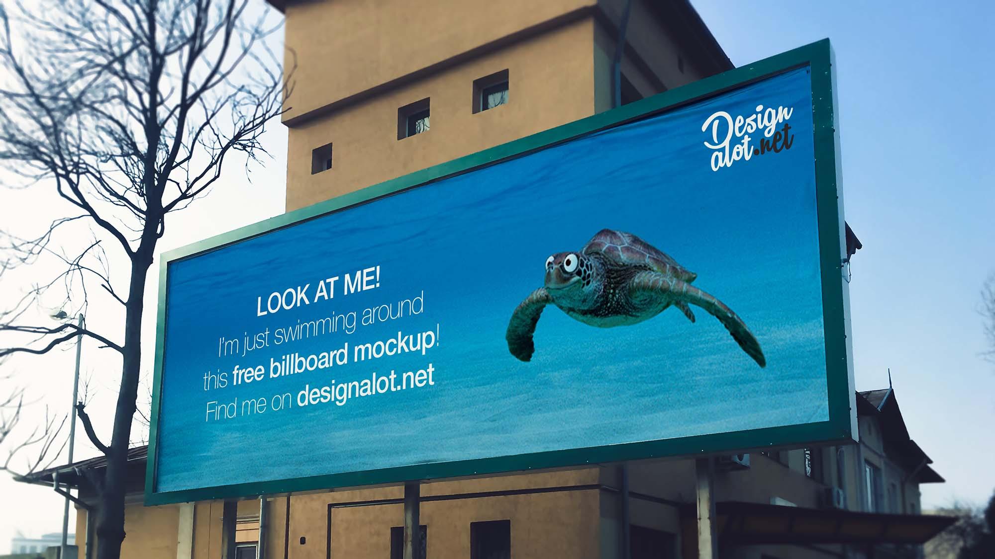 Wide 3:1 Outdoor Billboard Mockup