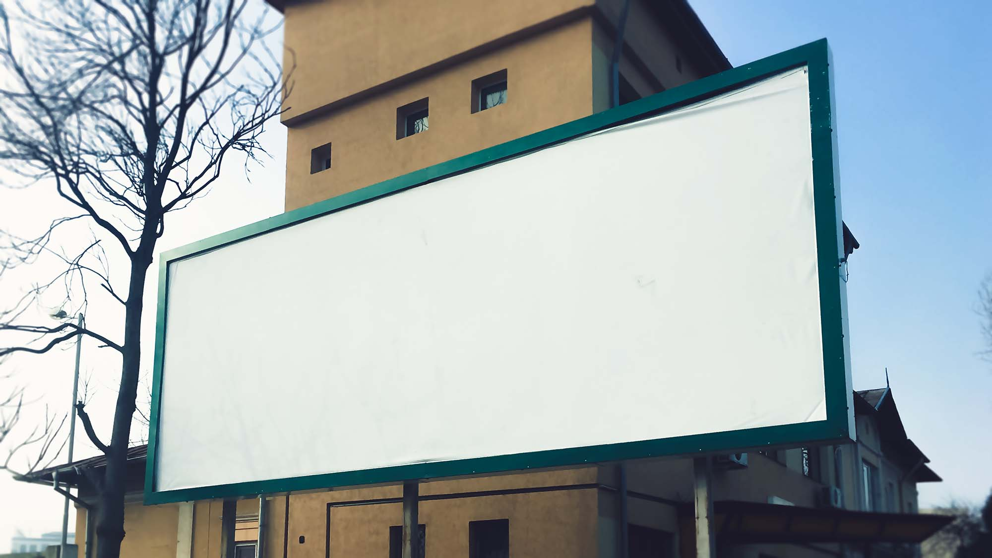 Wide 3:1 Outdoor Billboard Mockup 2