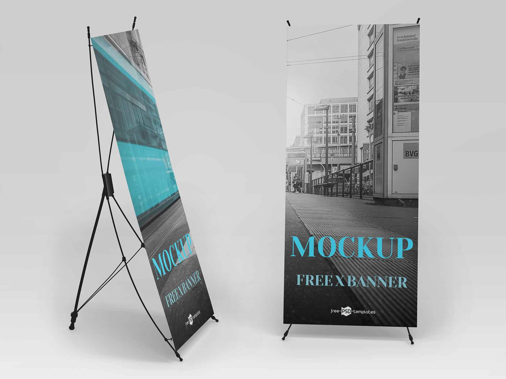 Free X Banner Mockup Psd
